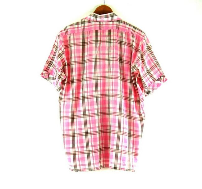 Back of 70s Pink Check Shirt