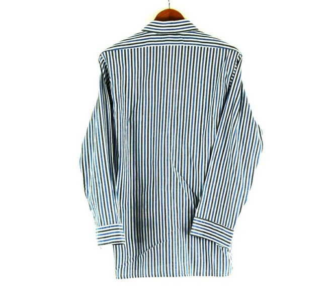 Back of 70s Blue and Grey Striped Shirt