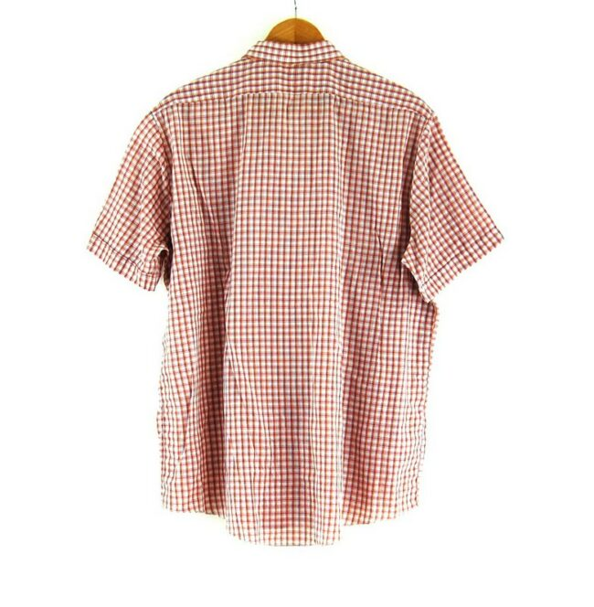 Back of 70s Red Check Short Sleeve Shirt