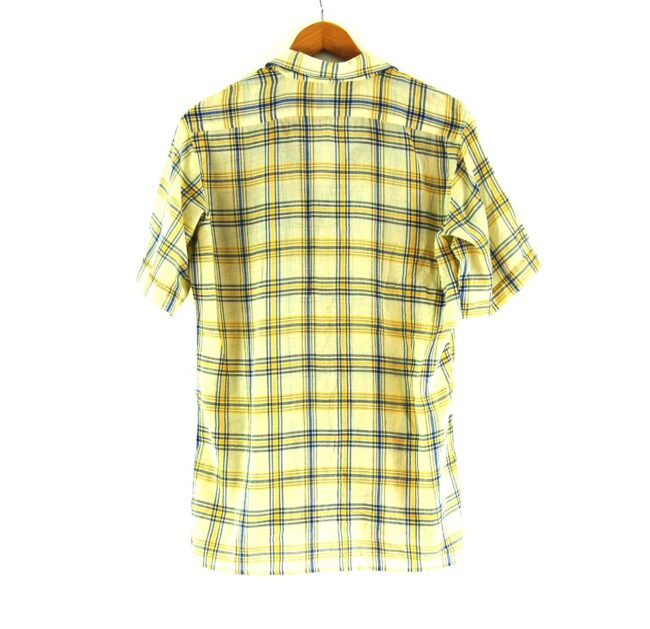 Back of 70s Yellow and Blue Checked Shirt