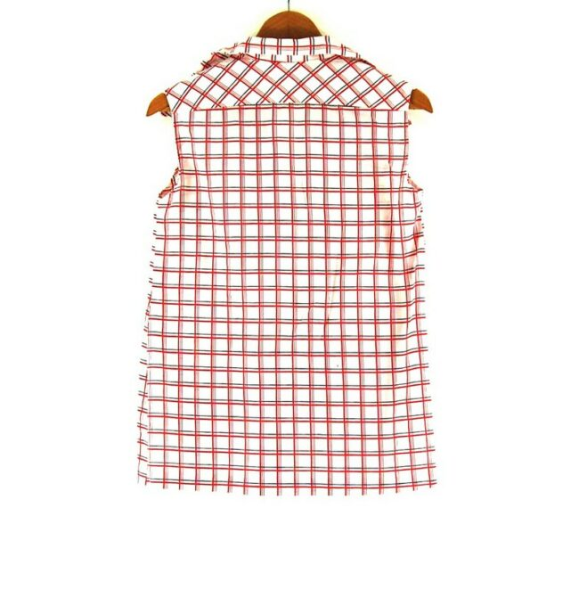 Back of 70s Sleeveless Checked Top