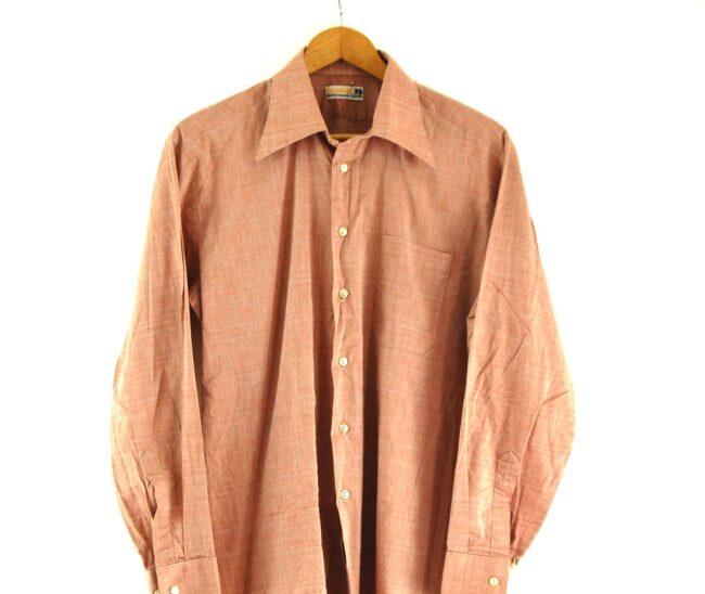 Close up of 70s Brown Shirt