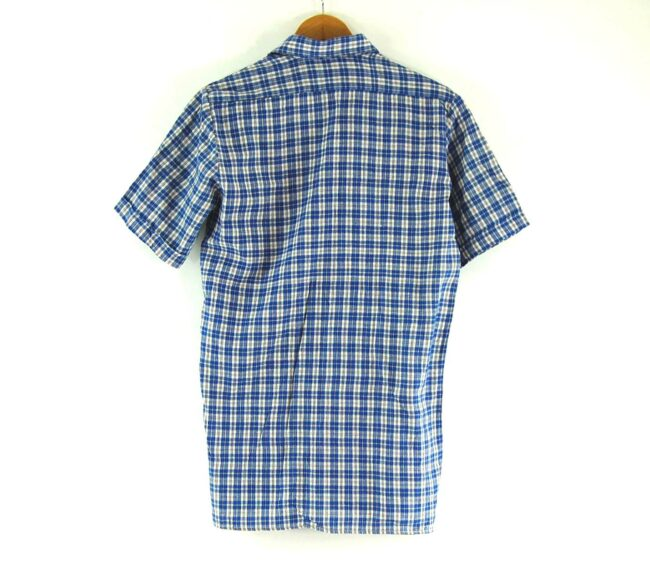 70s Blue Checked Short Sleeved Shirt Back