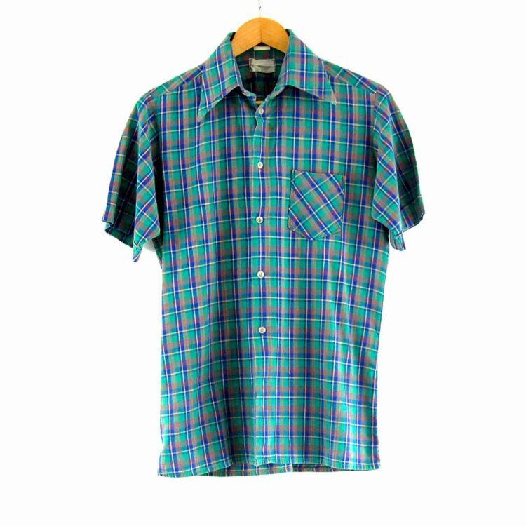 70s Green Check Shirt