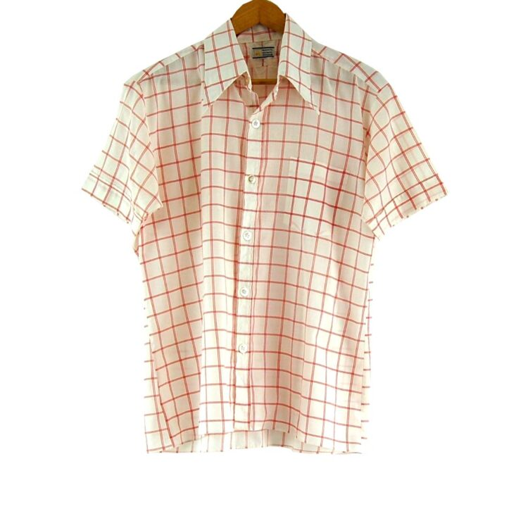 70s Red and White Checked Shirt