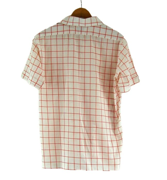 70s Red and White Checked Shirt Back