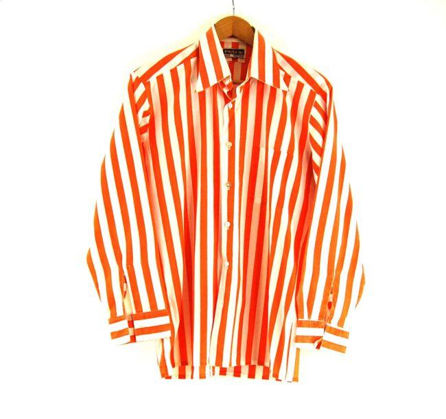 70s Orange Striped Shirt