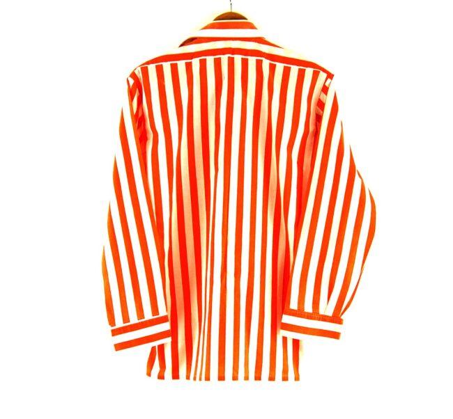 70s Orange Striped Shirt Back
