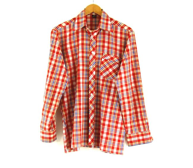70s Red Check Shirt