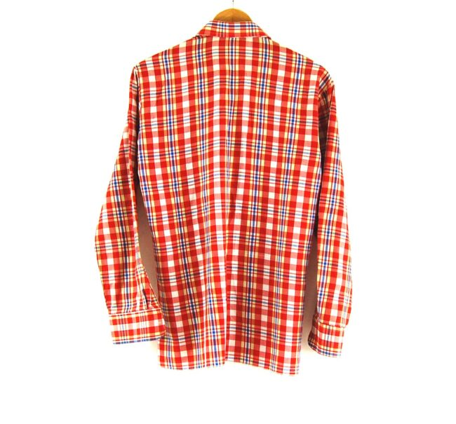 70s Red Check Shirt Back