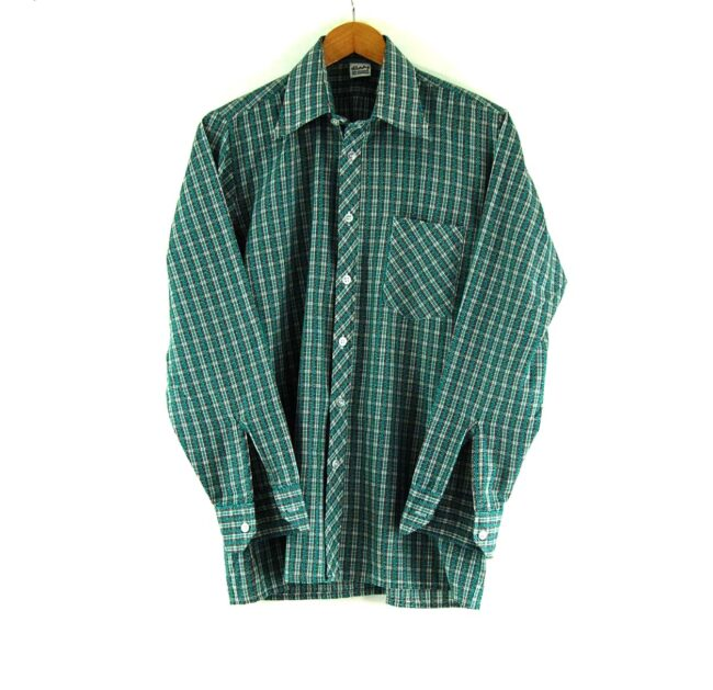 70s Green Checked Shirt