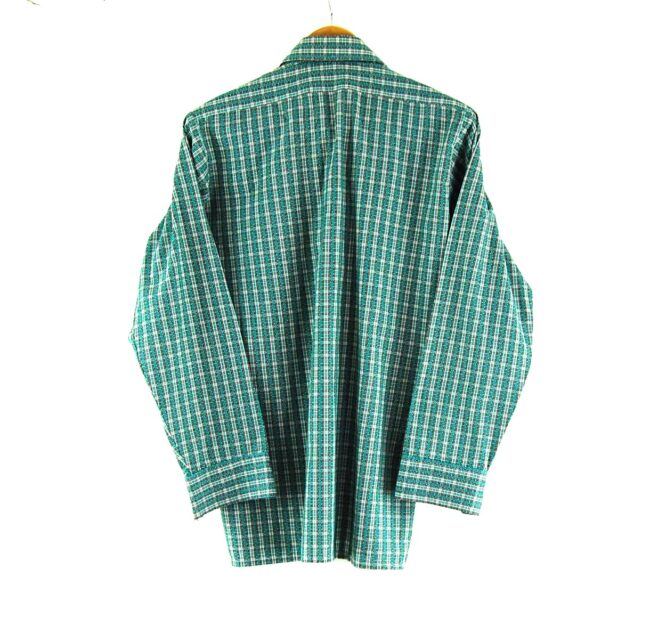 70s Green Checked Shirt Back