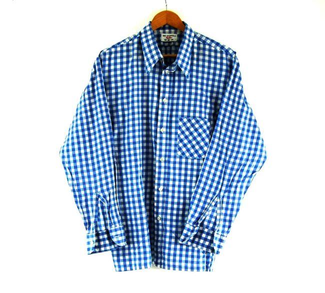 70s Blue Gingham Shirt
