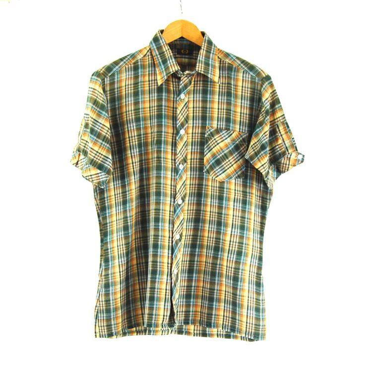 70s Short Sleeve Check Shirt