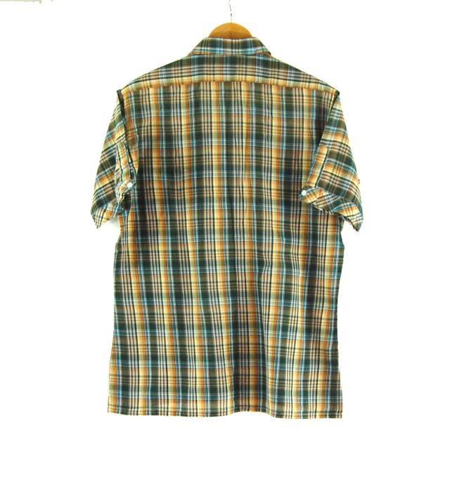 70s Short Sleeve Check Shirt Back