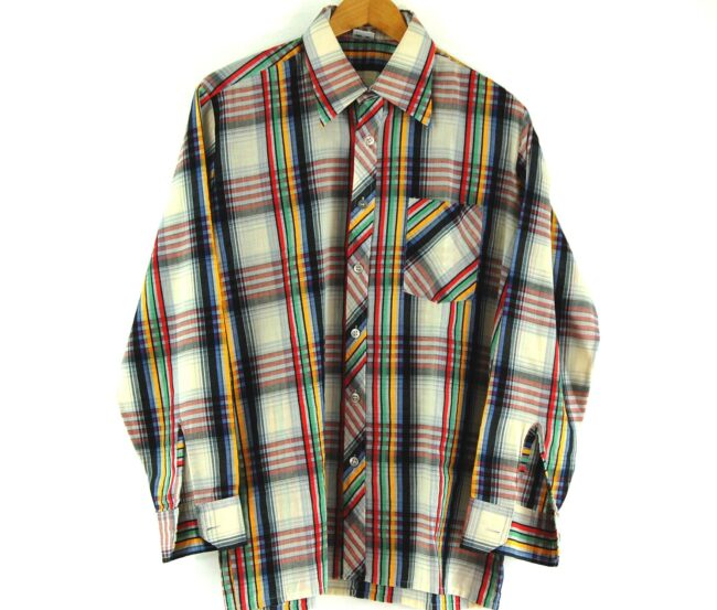 70s Plaid Shirt Close Up