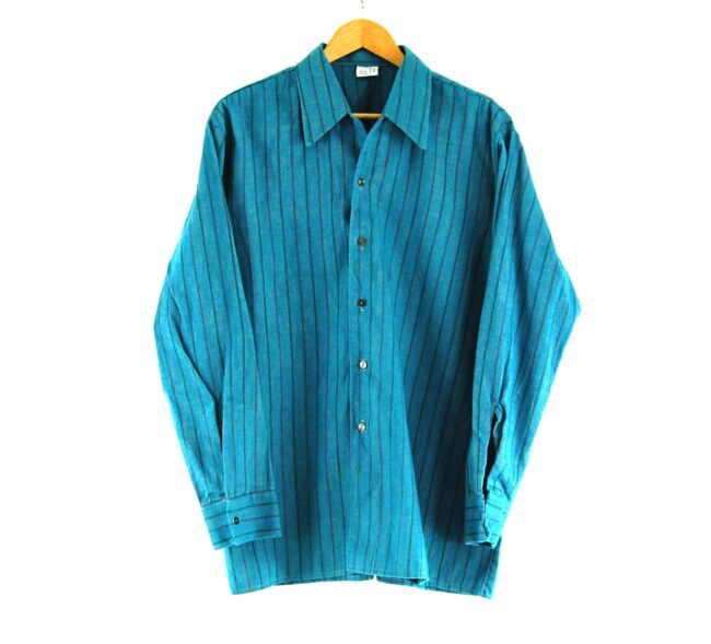 70s Blue Striped Shirt