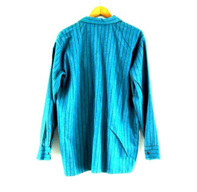 70s Blue Striped Shirt Back