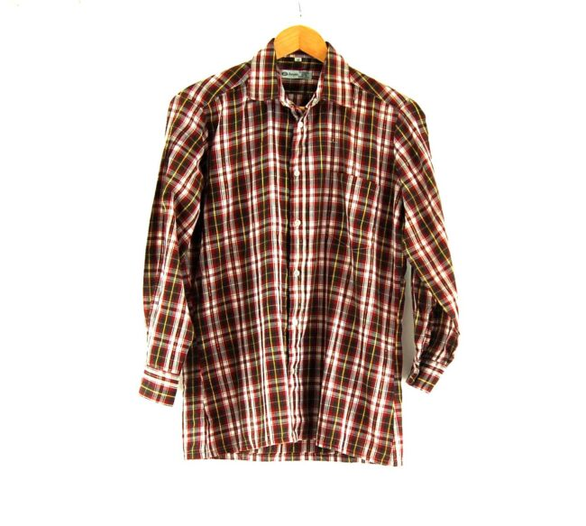 70s Checked Long Sleeved Shirt