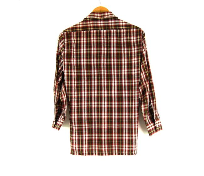 70s Checked Long Sleeved Shirt Back