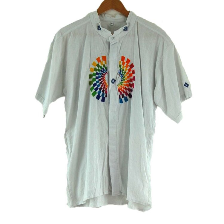 90s Embroidered Tunic Shirt