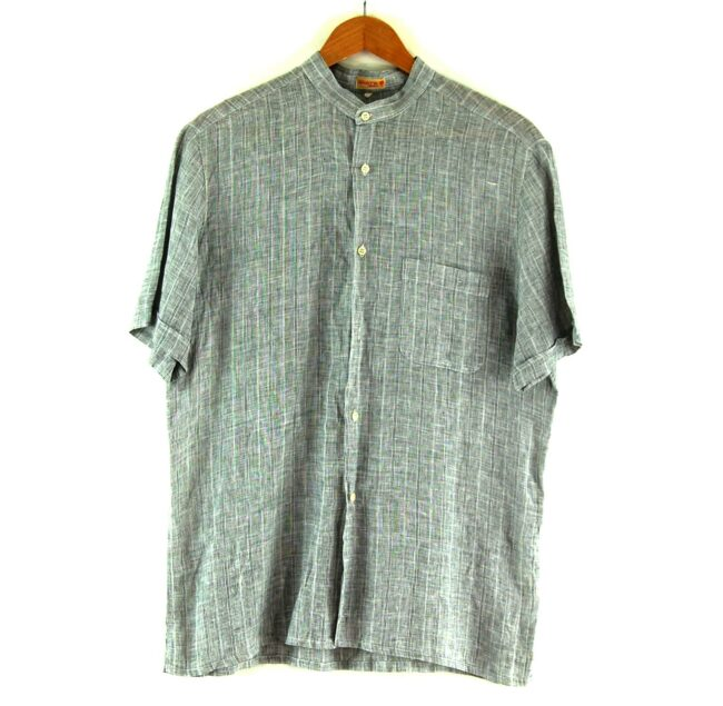 Grey Short Sleeve Tunic Shirt