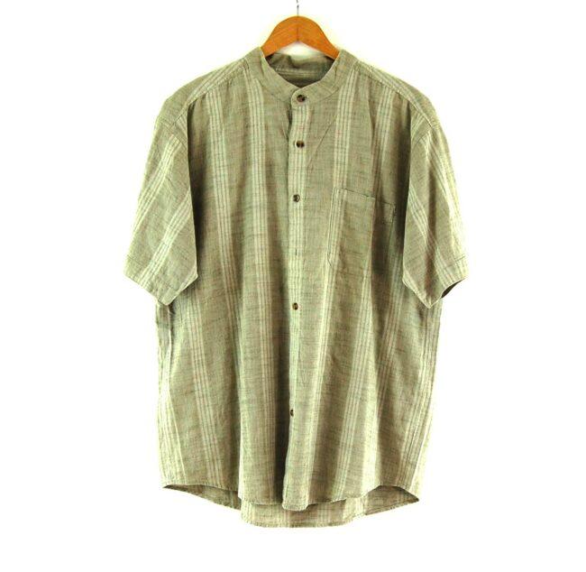 Brown Short Sleeve Tunic Shirt