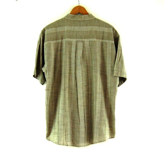 Brown Short Sleeve Tunic Shirt Back