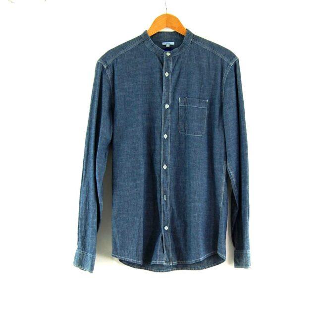 Blue Chambray Tunic Shirt