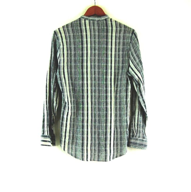 90's White and Blue Striped Tunic Shirt Back