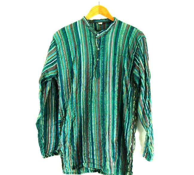 90s Striped Tunic Shirt