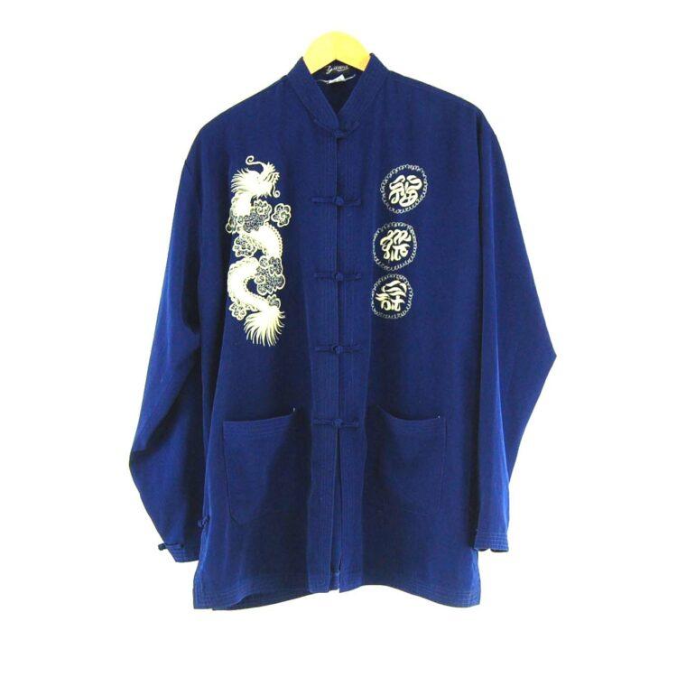 Blue Chinese Silk Jacket