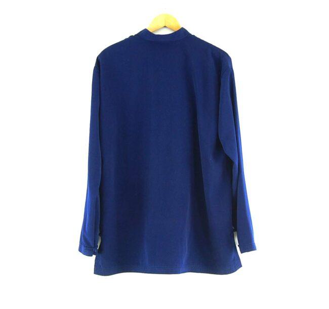 Blue Chinese Silk Jacket Back