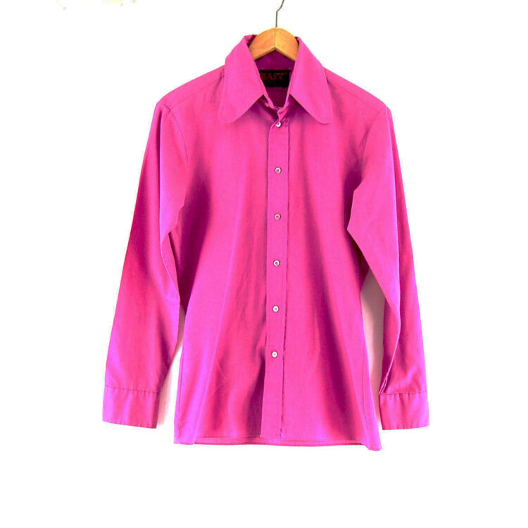 70s Purple Shirt with Beagle Collar