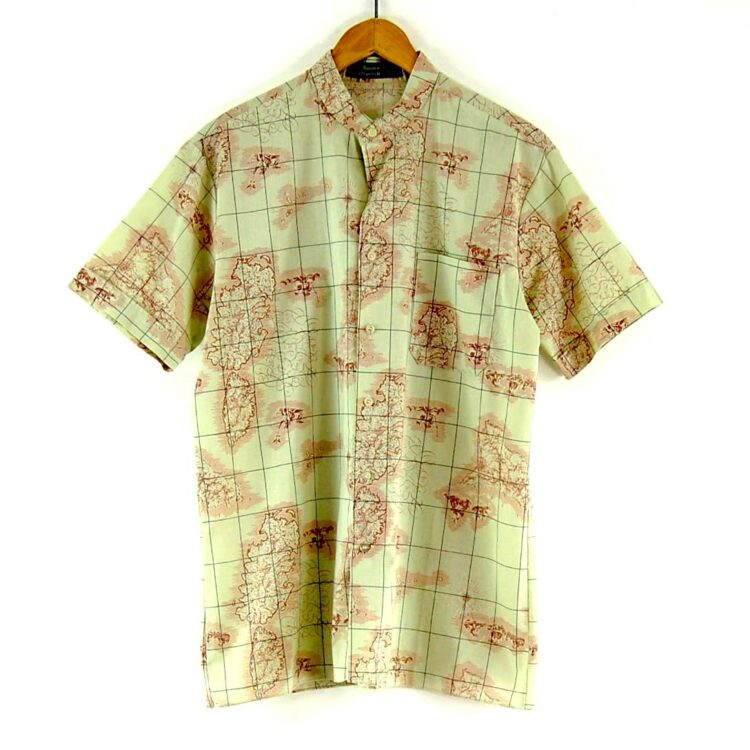 70s Map Print Shirt