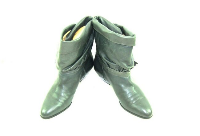 80s Grey Ankle Boots