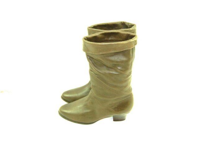 80s Khaki Green Boots