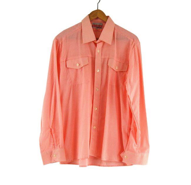70s Peach Checked Shirt