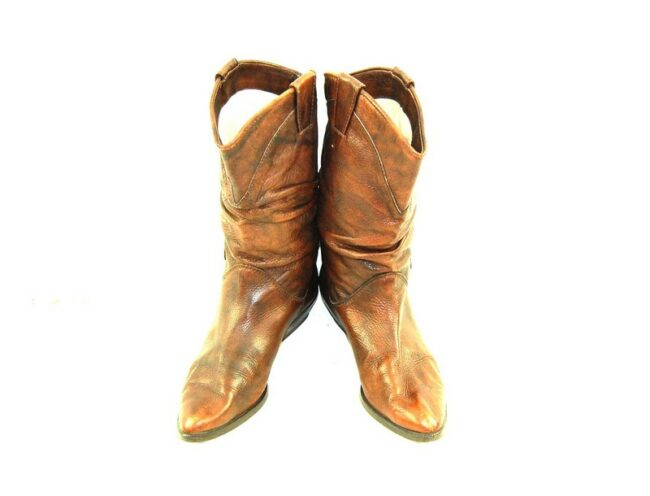 Front of 80s Cadoro Cowboy Boots