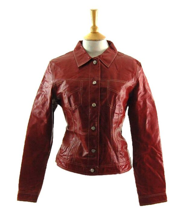 90s Red Leather Jacket