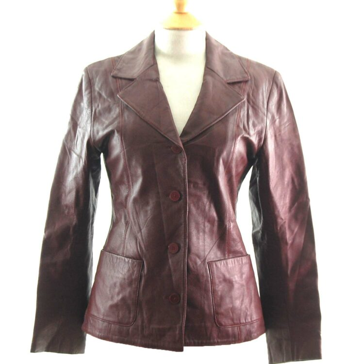 90s Brown Leather Jacket