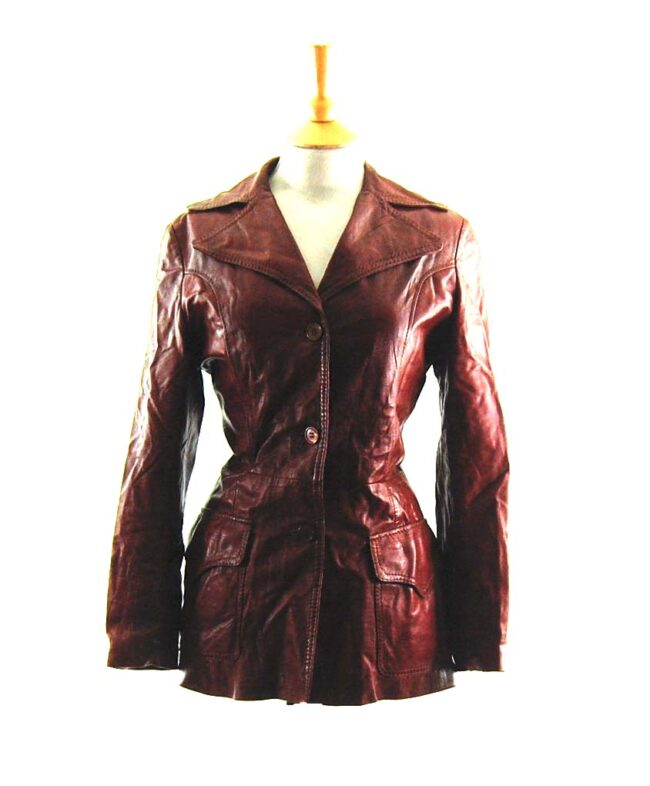 70s Brown Leather Jacket