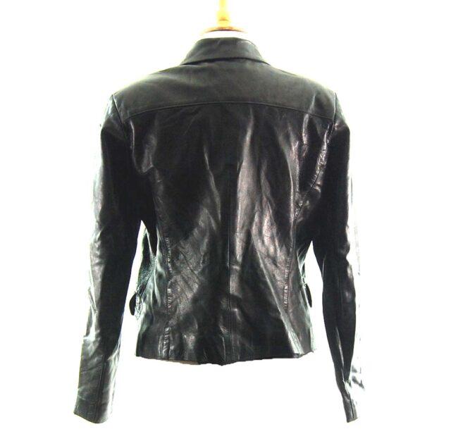 90s Cropped Leather Jacket Back