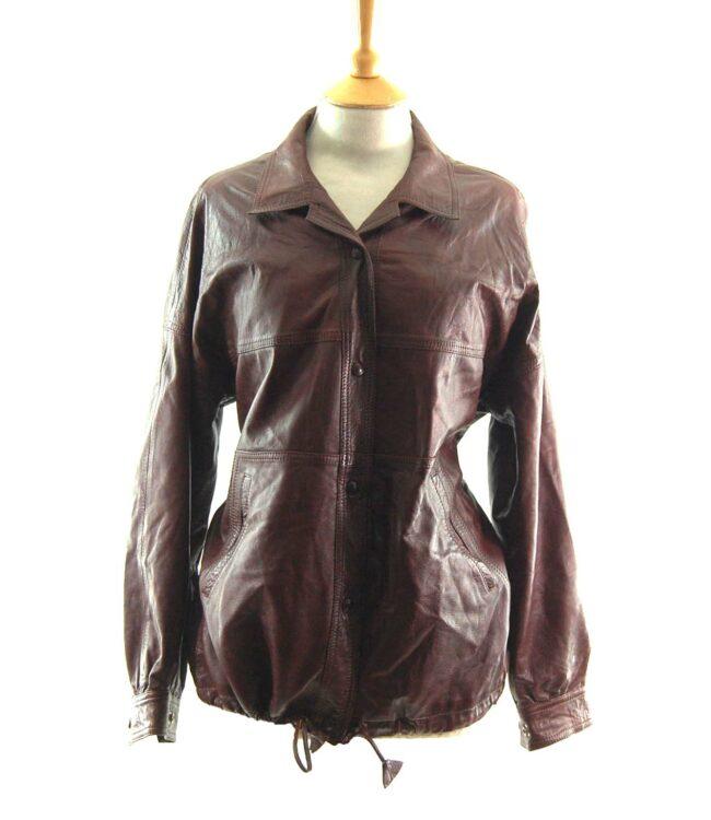80s Drawstring Leather Jacket