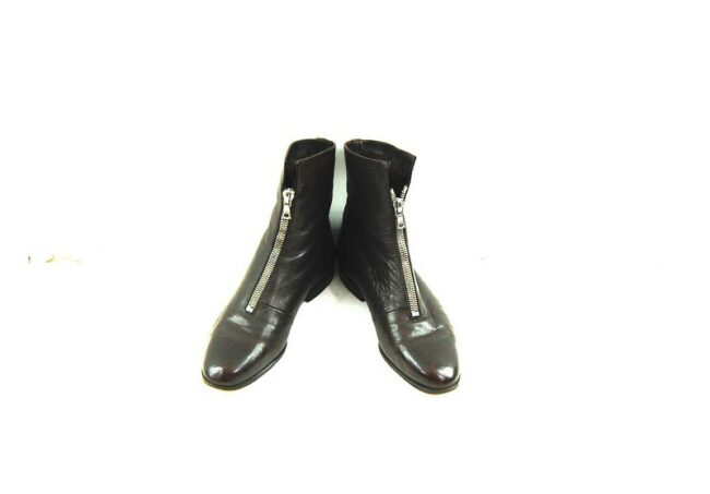 Front of 80s Brown Pixie Boots