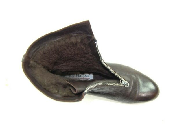 Inside of 80s Brown Pixie Boots