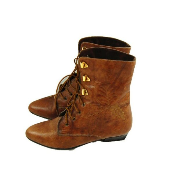 Side of 80s Lace Up Ankle Boots
