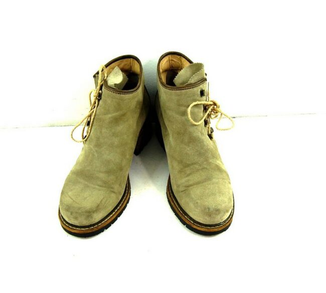 Front of 80s Suede Lace Up Ankle Boots