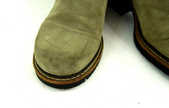 Close up of 80s Suede Lace Up Ankle Boots