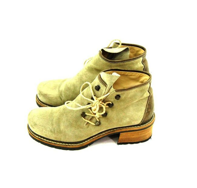 80s Suede Lace Up Ankle Boots